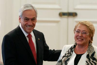 Así fue el encuentro entre Sebastián Piñera y Michelle Bachelet en la ONU