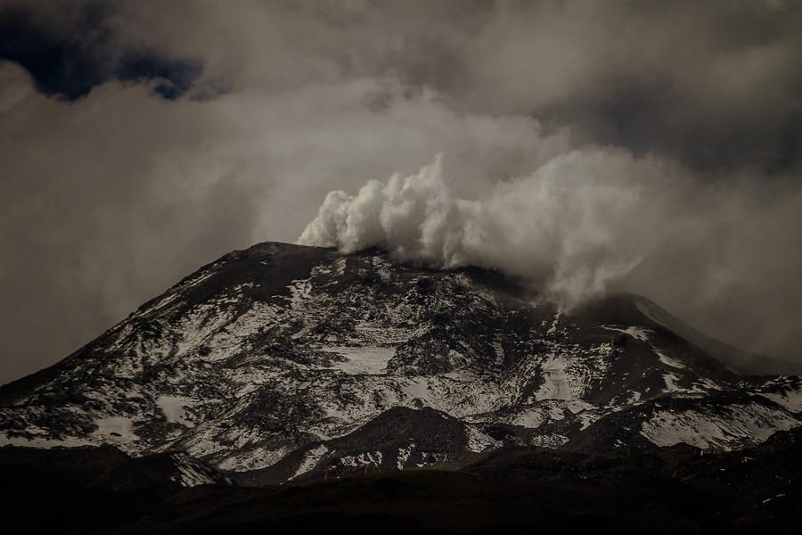 Cenizas del Nevados de Chillán cayeron en poblados de Ñuble