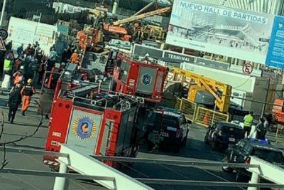 VIDEO | Derrumbe en Aeropuerto de Ezeiza deja un fallecido y diez heridos