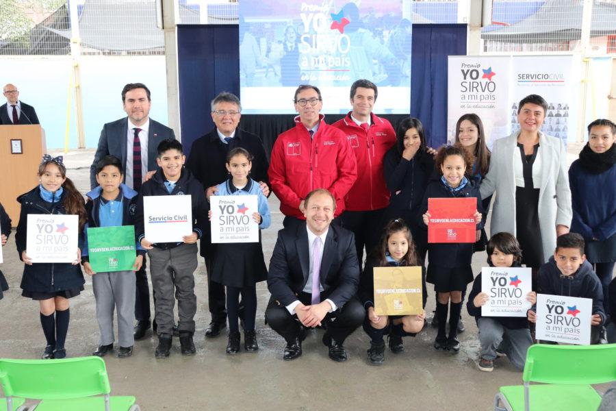 """Mineduc y Servicio Civil lanzan Premio """"Yo Sirvo a Mi País en la Educación"""""""