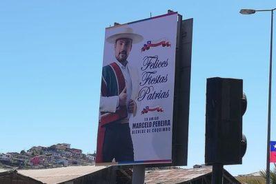 Contraloría oficia a Municipalidad de Coquimbo por publicidad dieciochera del alcalde
