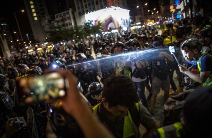 Manifestantes de Hong Kong piden ayuda a Estados Unidos