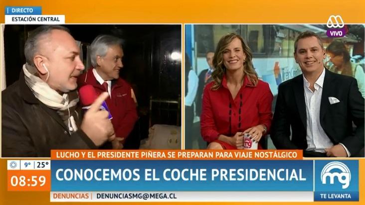 Entrevista a Sebastián Piñera en Mucho Gusto alcanzó peak de 11 puntos