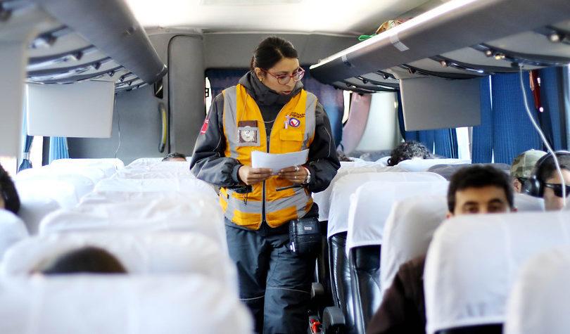 Ministerio de Transportes fiscaliza buses interurbanos y lanza plan vial por fin semana largo