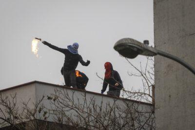Encapuchados grabaron el momento en que quemaron oficina del Instituto Nacional