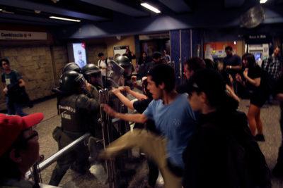 Fiscalía Sur confirma detención de primer imputado por daños al Metro