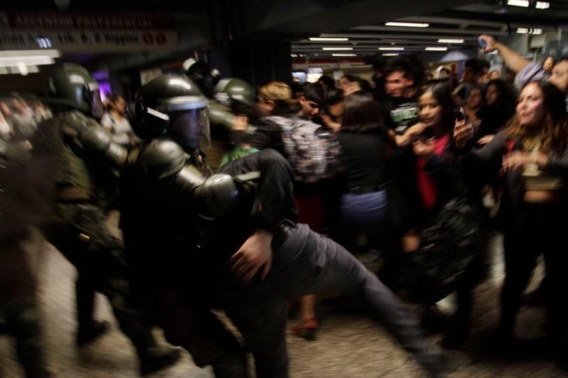 Metro: la tarde negra de la hora punta en Santiago
