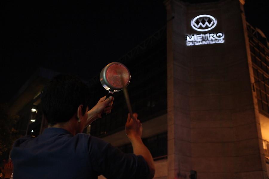 PC respalda protesta por el alza de pasaje en el Metro de Santiago