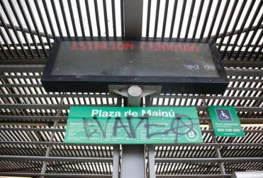 Nuevos incidentes se generan en metro de Plaza de Maipú