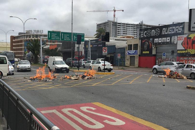 Concepción se suma a las jornadas de protestas por el alza de pasajes