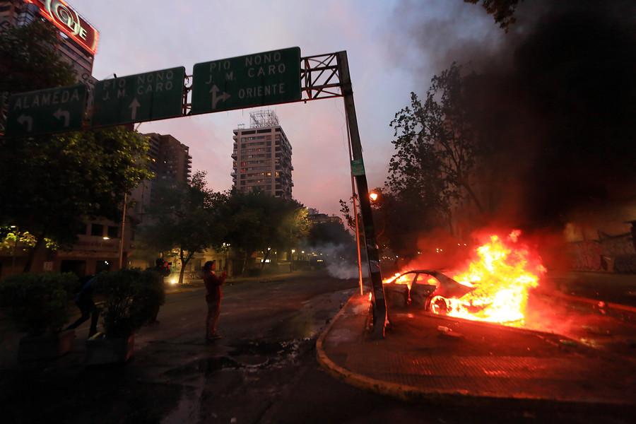 El día después del toque de queda en Chile