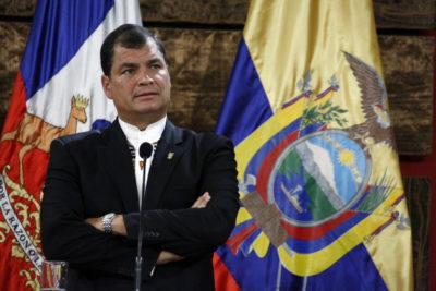 Ex Presidente Rafael Correa pide adelantar elecciones en Ecuador
