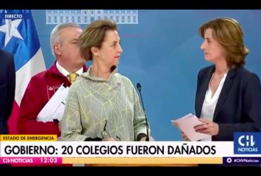 VIDEO |El incómodo silencio de Marcela Cubillos en conferencia en La Moneda