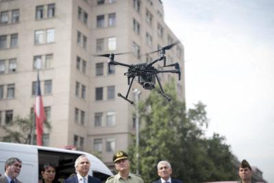 Entregan 7 nuevos drones para reforzar televigilancia en Santiago