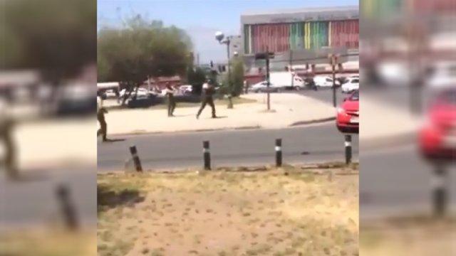 VIDEO | Carabineros dispara en cercanías de metro El Llano