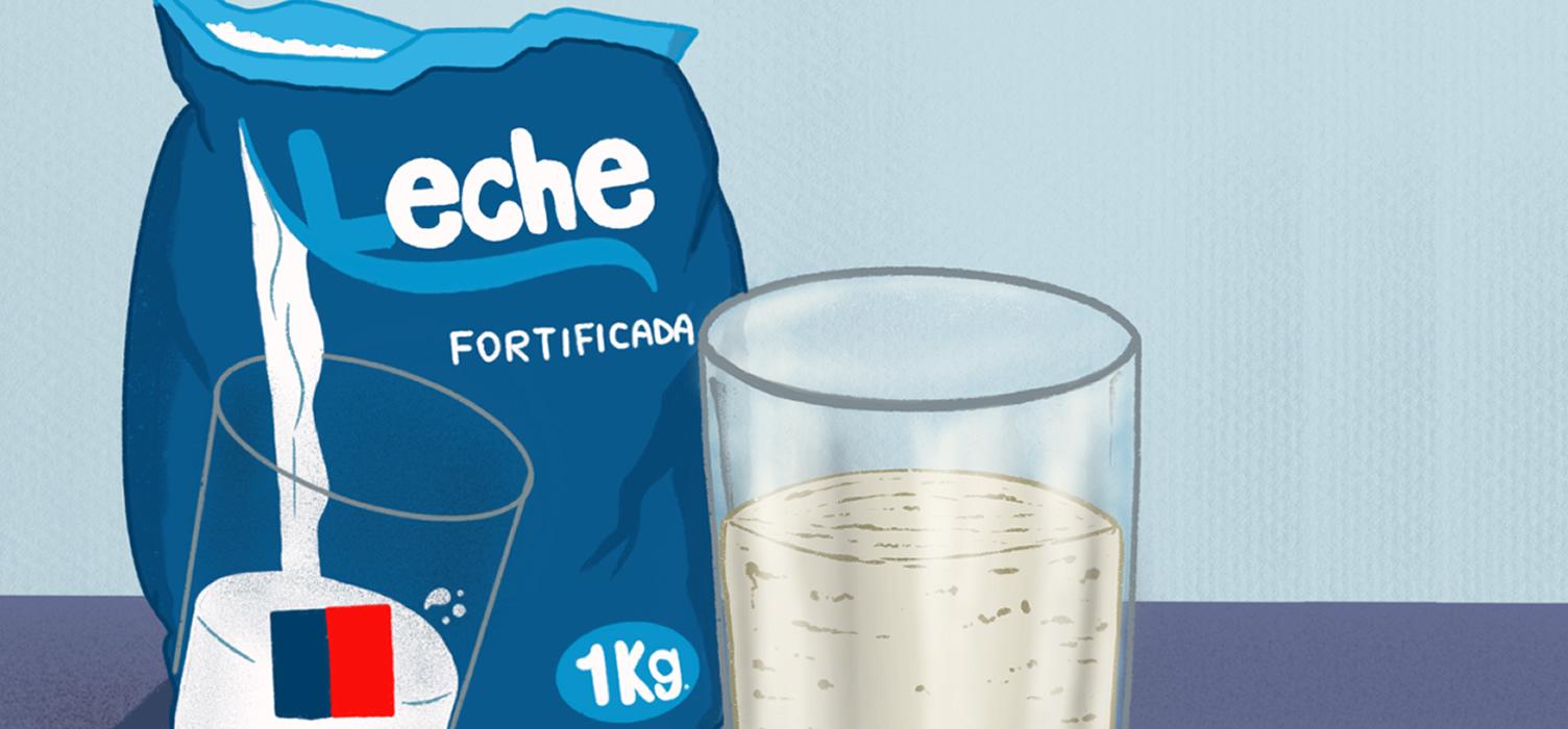 Partículas extrañas y mal olor: Contraloría alerta sobre leche Purita entregada en Cerro Navia