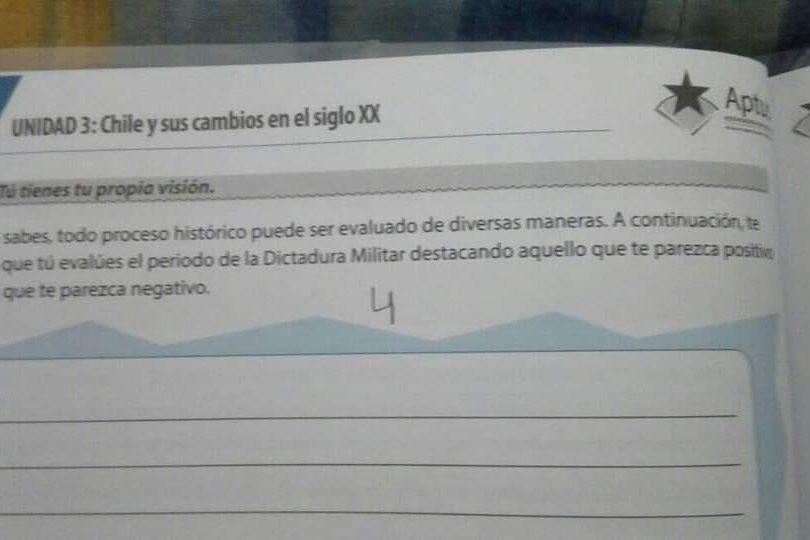"""El acuerdo que dio origen al texto escolar que pregunta lo """"positivo"""" de la dictadura"""