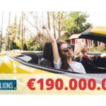 Sorteo récord de €190 millones. ¡Si nadie gana, todo el pozo se repartirá como segundo premio!