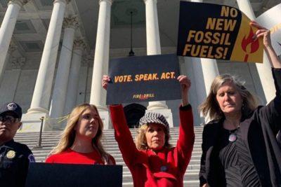 Jane Fonda es detenida en una protesta contra el cambio climático en Washington