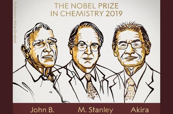Premian con el Nobel de Química a quienes desarrollaron la batería de litio