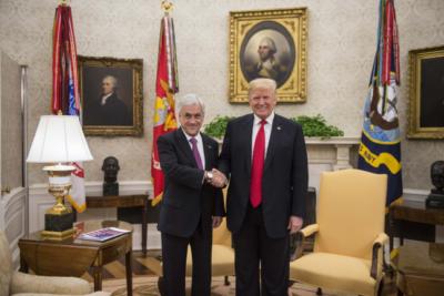 """Donald Trump denuncia """"esfuerzos extranjeros"""" en las protestas en Chile"""