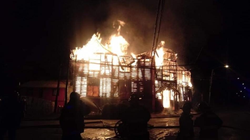 Incendian sede del Partido Socialista en Valdivia - El Dínamo