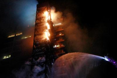 El origen del incendio en el edificio de Enel