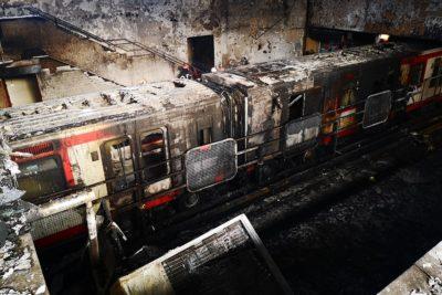 Joven acusado de incendio en la estación Pedrero del Metro quedó con internación provisoria