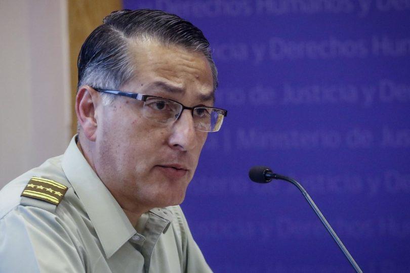 General de Carabineros Mario Rozas anuncia suspensión del uso de escopetas antidisturbios