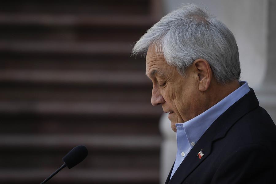 Cadem: Aprobación del presidente Piñera cayó un punto y llegó a un 13%