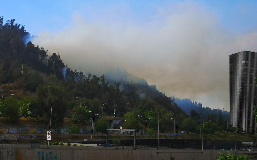 """""""Alerta Roja en Providencia tras incendio en el cerro San Cristóbal"""""""