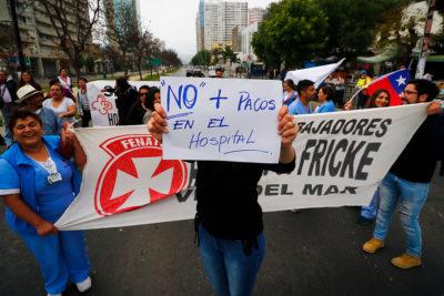 """Trabajadores de Hospital Gustavo Fricke: """"Condenamos el uso de gases tóxicos en el interior de un centro asistencial"""""""