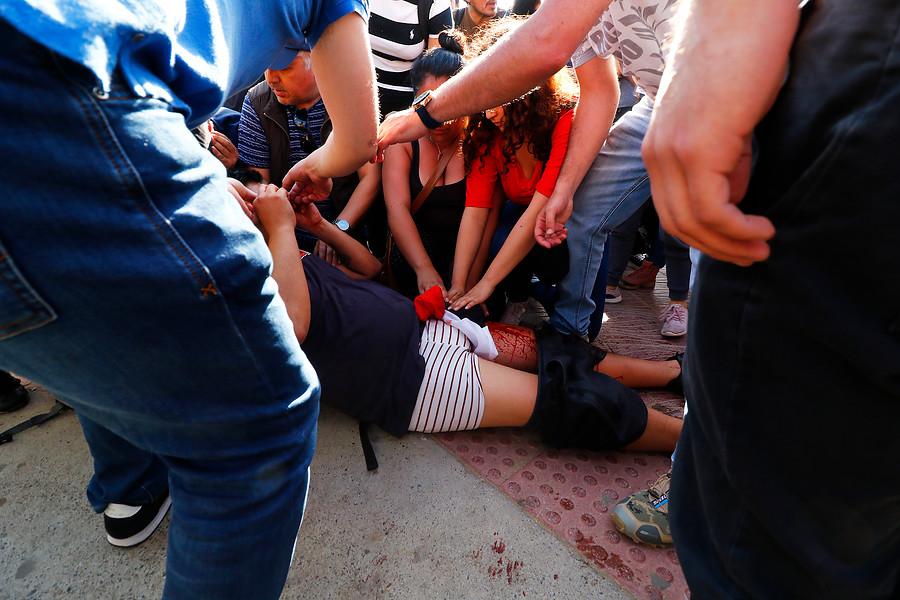 Chaleco amarillo dispara contra manifestante y se desatan disturbios en Reñaca
