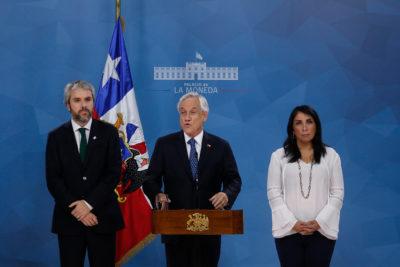 Sebastián Piñera llama a la paz y Constitución con participación ciudadana