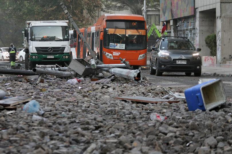 Se registra una jornada de protestas de las más violentas en Chile
