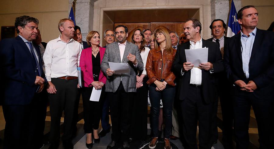 Senadores firman declaración por la paz, DD.HH. y el orden público