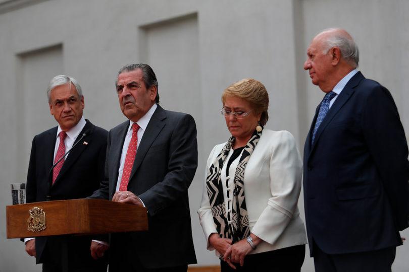 Presidente Piñera se reunió con Frei y Lagos y conversó telefónicamente con Bachelet