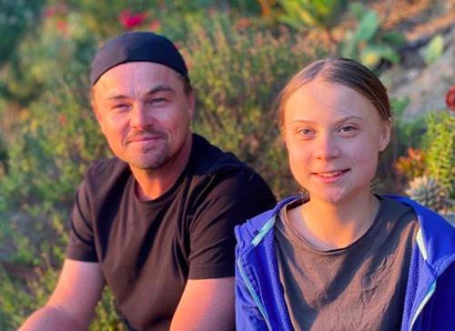 """""""Se ha convertido en una líder de nuestro tiempo"""": el mensaje que le dedicó Leonardo DiCaprio a Greta Thunberg"""
