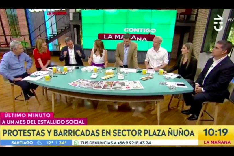 VIDEO |El ridículo cruce entre Monserrat Álvarez y Felipe Harboe en matinal de CHV