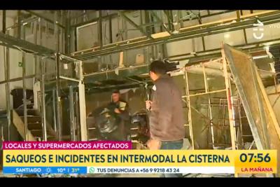 VIDEO  Matinal de CHV captó saqueo en vivo en local de La Cisterna