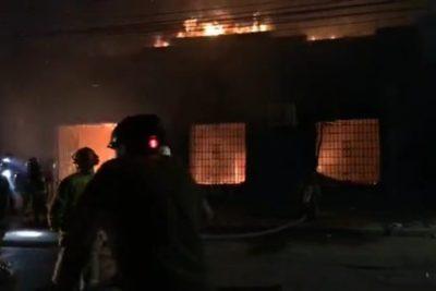 VIDEO | Incendio en sede parlamentaria de senador UDI Juan Antonio Coloma