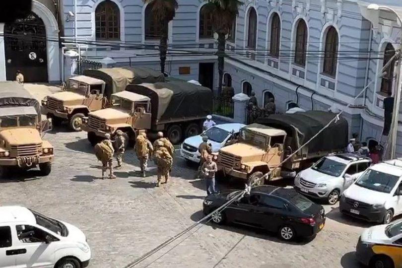 Armada explica la presencia de infantes en el centro de Valparaíso