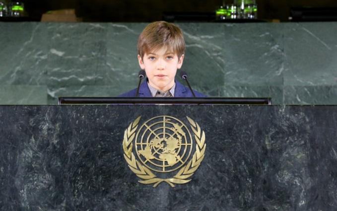 Dante, el primer niño chileno en exponer ante la ONU