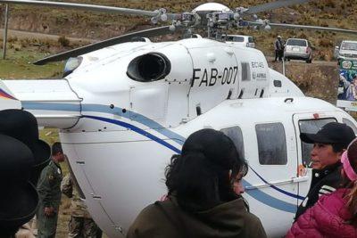 Helicóptero de Evo Morales sufre desperfecto y debe aterrizar de emergencia