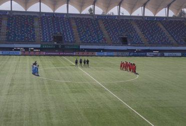 El minuto de silencio de los jugadores de Unión La Calera y Deportes Iquique