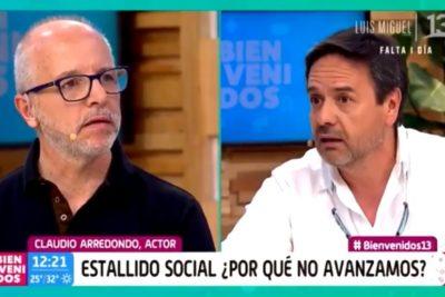 El cruce entre Claudio Arredondo y Alberto Plaza que tensionó a Bienvenidos