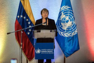 """Michelle Bachelet pide la realización de elecciones """"libres y creíbles"""" en Venezuela"""