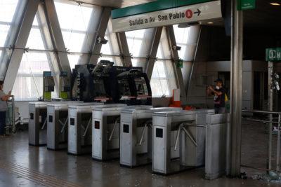 Metro de Santiago reabrió la estación San Pablo después de más de dos meses