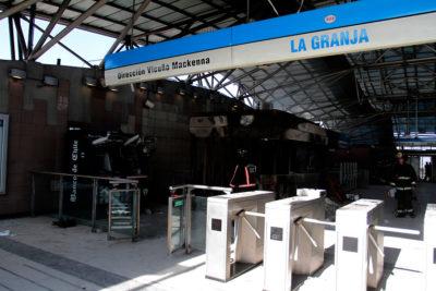 PDI detiene a eventual implicado en incendio a Metro La Granja