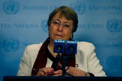 """Bachelet: """"Cuando los gobiernos no pueden hacerse cargo, pasa lo que está pasando en Chile"""""""
